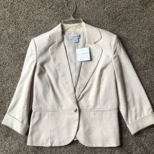 NWT Sag Harbor Polyester/Linen Blazer